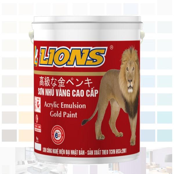 sơn nhũ vàng đồng lions cao cấp