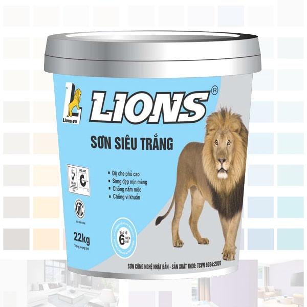sơn nội thất lions siêu trắng