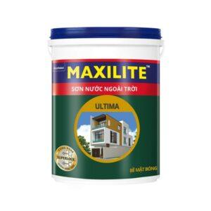sơn nước ngoài trời maxilite ultima bề mặt bóng lu1