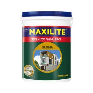 sơn bóng ngoài trời maxilite ultima bề mặt mờ lu2