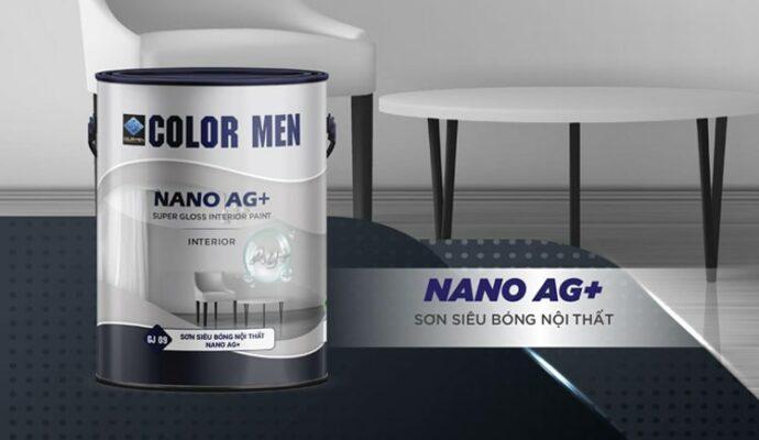 Sơn siêu bóng nội thất nano ag+ color men