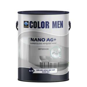 sơn siêu bóng nội thát nano ag + color men