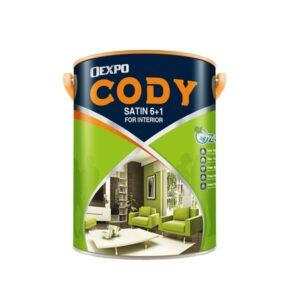 sơn bóng nội thất oexpo cody satin 6+1 for interior