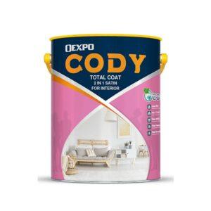 sơn bóng nội thất oexpo cody total coat 2 in 1 satin for interior